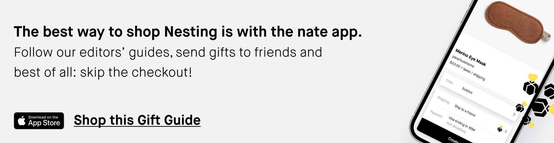 shop our gift guides using the nate app